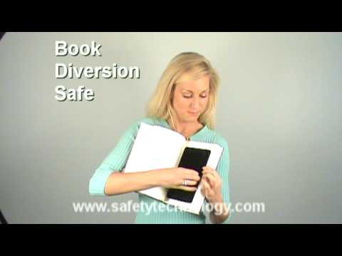 Deluxe Large Hardbound Book Diversion Safe - Demonstrates how to use a book safe.