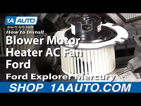 How To Install Replace Blower Motor Heater AC Fan Ford Explorer Mercury Mountain