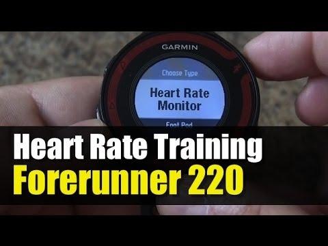 Garmin Forerunner 220 - How To Pair & Setup Heart Rate Training