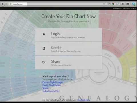 Create Genealogy Fan Chart