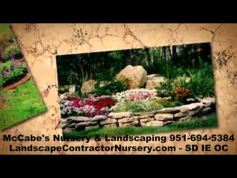 Inland Empire Landscape Contractor Nursery - McCabes Landscape Nursery - SD - OC - IE