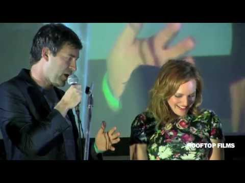 Elisabeth Moss, Mark Duplass, and Director Charlie McDowell at Rooftop Films
