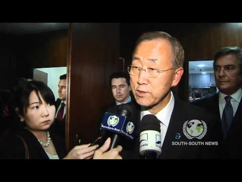 Ban Ki moon on UN   South America Cooperation