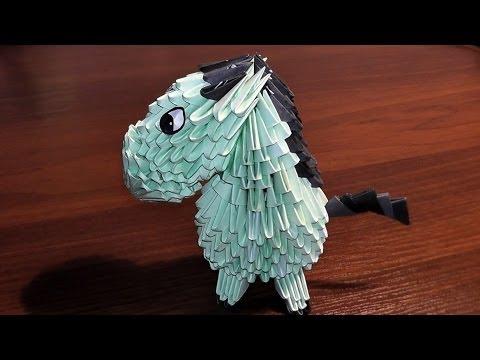 Модульное оригами лошадь (пони