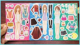 Đồ chơi dán hình thiết kế quần áo cho búp bê, 33 bộ quần áo & giày dép, phụ kiện (Chim Xinh)