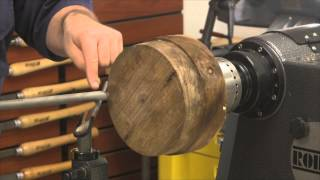 Truing Up a Walnut Bowl Blank in HD - Woodturning How-To