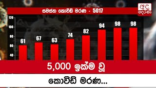 Sri Lanka surpasses 5,000 COVID-19 deaths