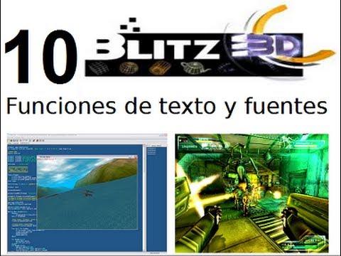 Video 10- Blitz 3d - Funciones de texto y fuentes