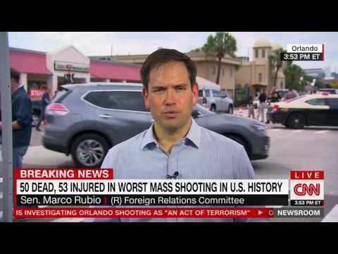 Marco Rubio Talks to CNN about terror attack in Orlando