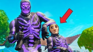 his first time playing fortnite..
