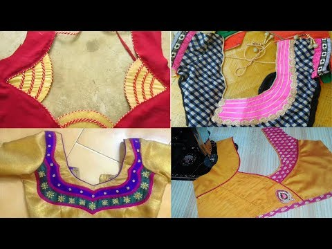 Simple Easy to Stitch New Blouse Back neck Designs | Latest Fashion Catalog