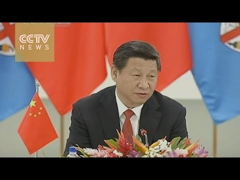 Xi Jinping meets leaders of Pacific island countries