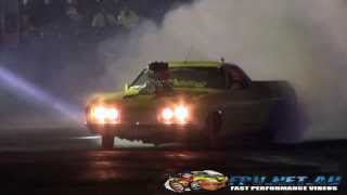 OLD HOON BLOWN V8 FORD UTE AT BURNOUTS UNLEASHED 23.8.2014