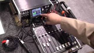 Tascam multi-track recorder and mixer - Fred Ginsburg audio engineer- NAMM'12