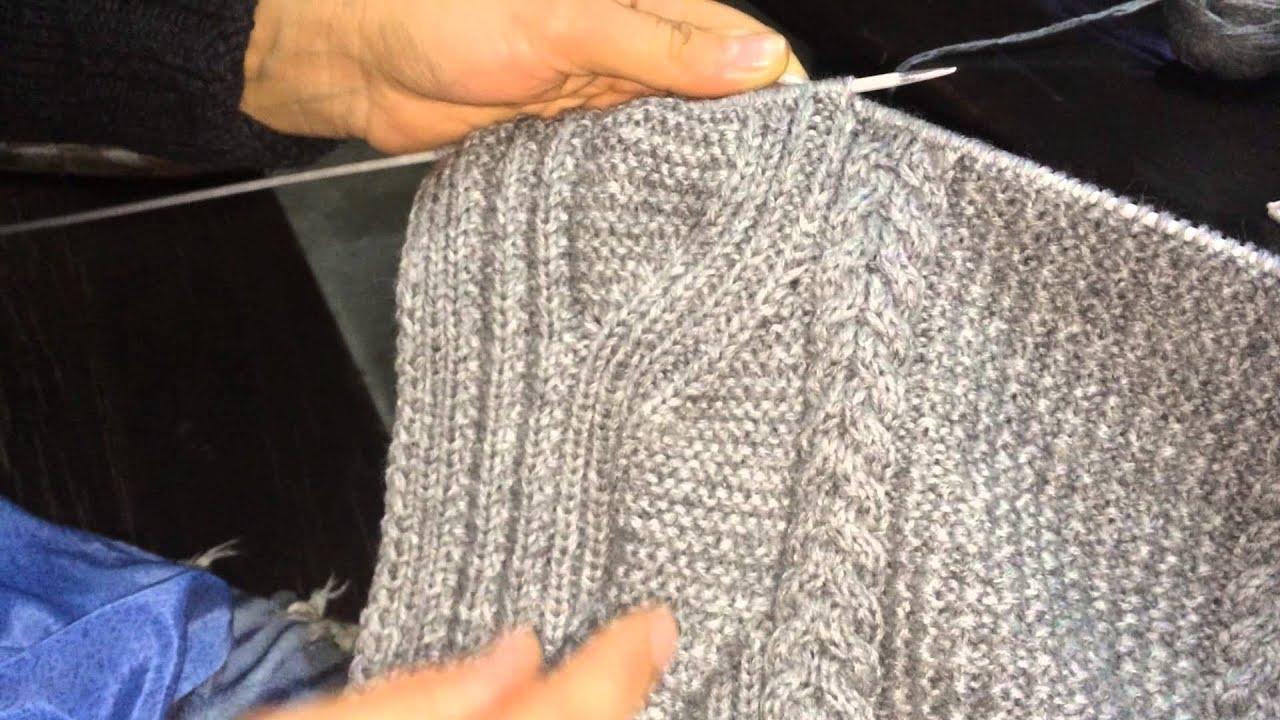 Вязание широкой косы спицами из 20 петель
