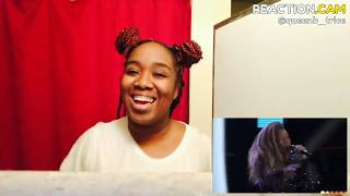 "SandyRedd Gets Four Turns with Bishop Briggs' ""River"" - The Voice 2018 Blind Auditions (REACTION}"