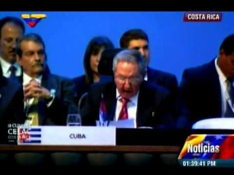 Raúl Castro en la Celac