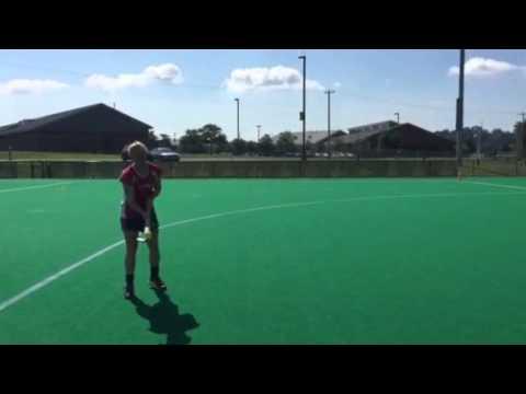 2015 National Field Hockey Day - U.S. Women's National Team's Lauren Crandall's Challenge Trick