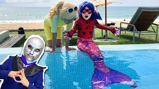Pranks from Papillon! Ladybug became a mermaid through the fault of Chloe Bourgeois! cosplay music