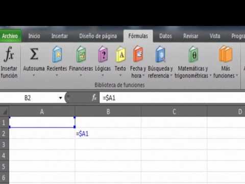 Referencias Relativas, Absolutas y Mixtas en Excel - YouTube