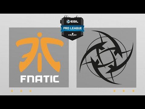 CS:GO - Fnatic vs. NiP [Inferno] Map 2 - ESL Pro League Season 5 - EU Matchday 13