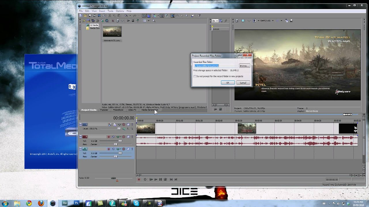 how to delete just audio in sony vegas