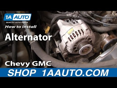 How To Install Repalce Alternator Chevy GMC S-10 S-15 Blazer Jimmy Pickup 4.3L 98-00 1AAuto.com