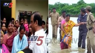Eluru MlA Badeti Bujji Visits Flood Affected Areas
