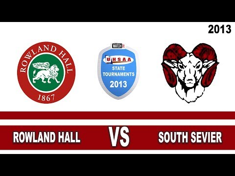 Court#2 Rowland Hall vs South Sevier High School 2013 State 2A Volleyball Tournament