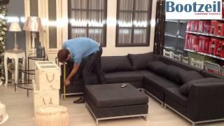 Maat-hoes voor lounge-bank hoekbank