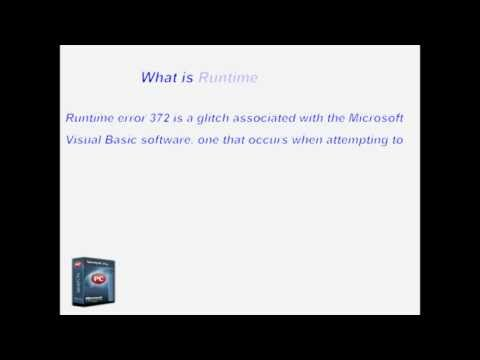 How To Fix Runtime Error 372
