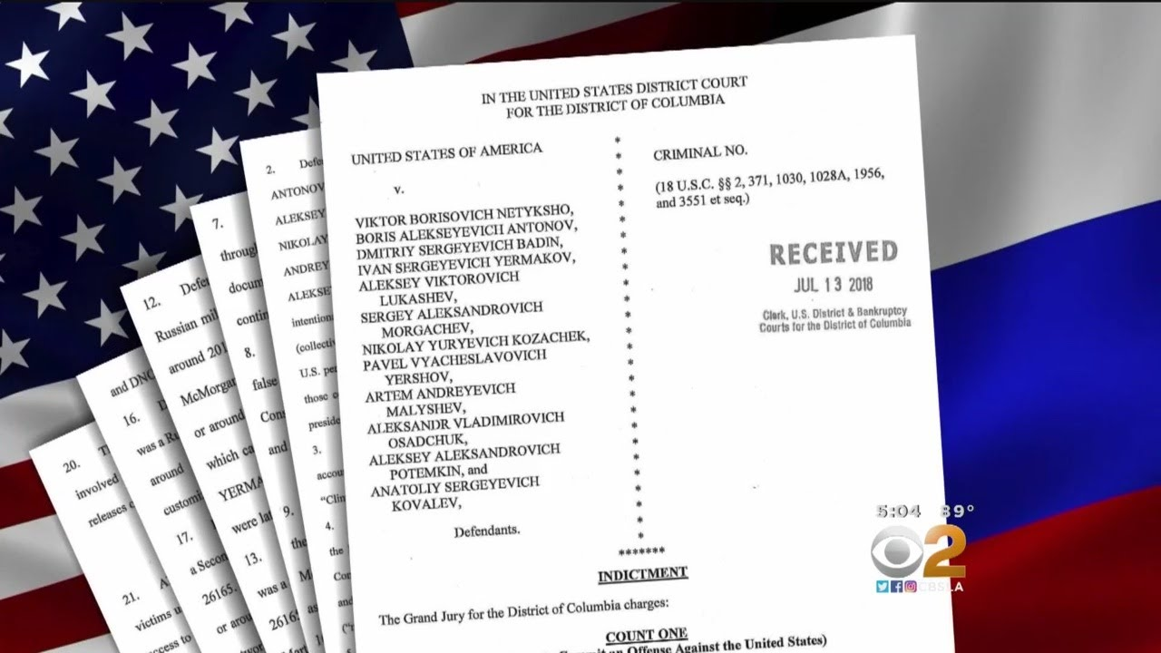 12 Russian Officers Indicted For Hacking During 2016 Election