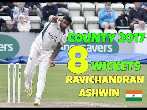 Ravichandran Ashwin 8 Wickets In County Debut - September 1 County Championship 2017