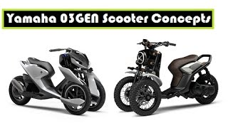 Yamaha 03GEN Scooter Concepts, three-wheeled scooter for the road and for dirt scrambling