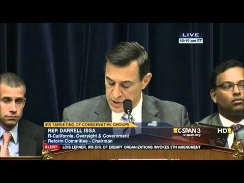 Lois Lerner's Cowardly Abuse Of Opening Statement To Present Her Side, Refusal To Answ...2013.05.22