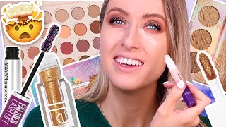 TESTING NEW DRUGSTORE MAKEUP + full day wear test!!