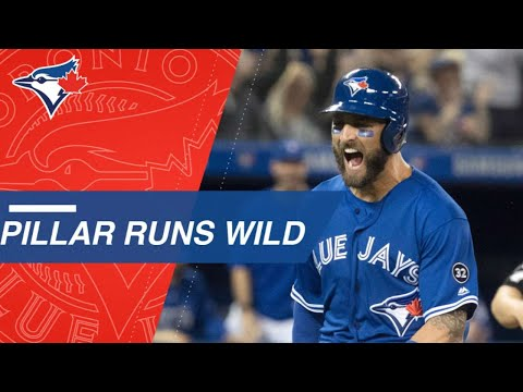 Kevin Pillar swipes second, third, home in the 8th inning