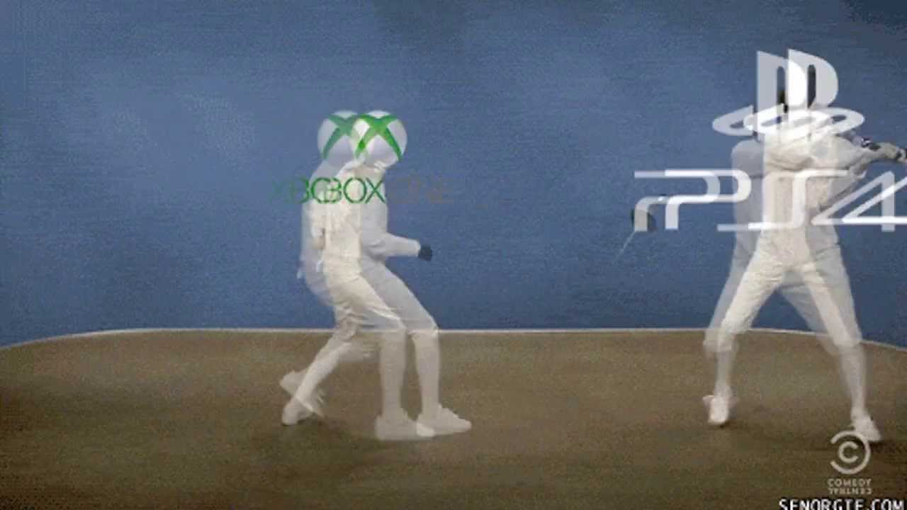 Wii u vs xbox  Xbox One Vs Ps4 Vs Wii U Gif
