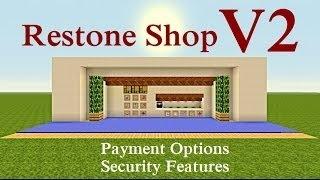 Minecraft Tutorial : Restone Shop V2 [PC] [PS3] [XBOX]