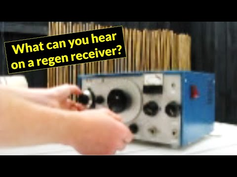 HF regenerative receiver demonstration