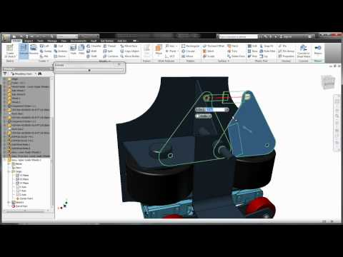 2D Layout to 3D Inventor Model with Autodesk Product Design Suite