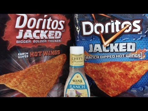 Doritos JACKED [Ranch Dipped Hot Wings Flavored] Chips Review