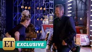 EXCLUSIVE: Miley Cyrus Challenges Blake Shelton to Dance in