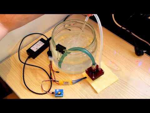 Работа помпы из HDD от модельного регулятора - Видео