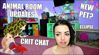 GETTING A NEW PET | ANIMAL ROOM UPDATES | GETTING A NEW HAMSTER CAGE
