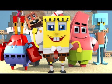 Minecraft | REAL LIFE SPONGEBOB IN MINECRAFT: Spongebob Mod Showcase! (Spongebob & Krusty Krab)