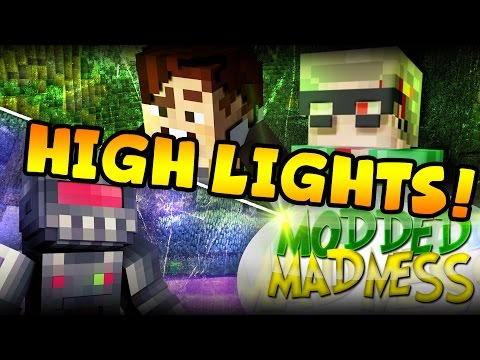 Minecraft: HIGHLIGHTS & FAILS #7 - Modded Madness (Yogscast Complete Pack)