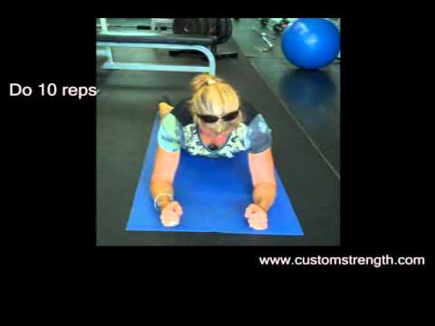 Ottawa personal training: Thoracic Spine Pushups