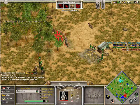 Age of Mythology The Titans x Hamachi: Hades, Poseidon & Isis VS Ra (CPU TITAN) - Parte 3/3