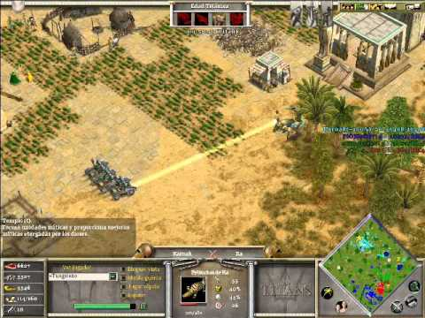 Age of Mythology The Titans x Hamachi: Hades, Poseidon & Isis VS Ra (CPU TITAN) - Parte 3/3